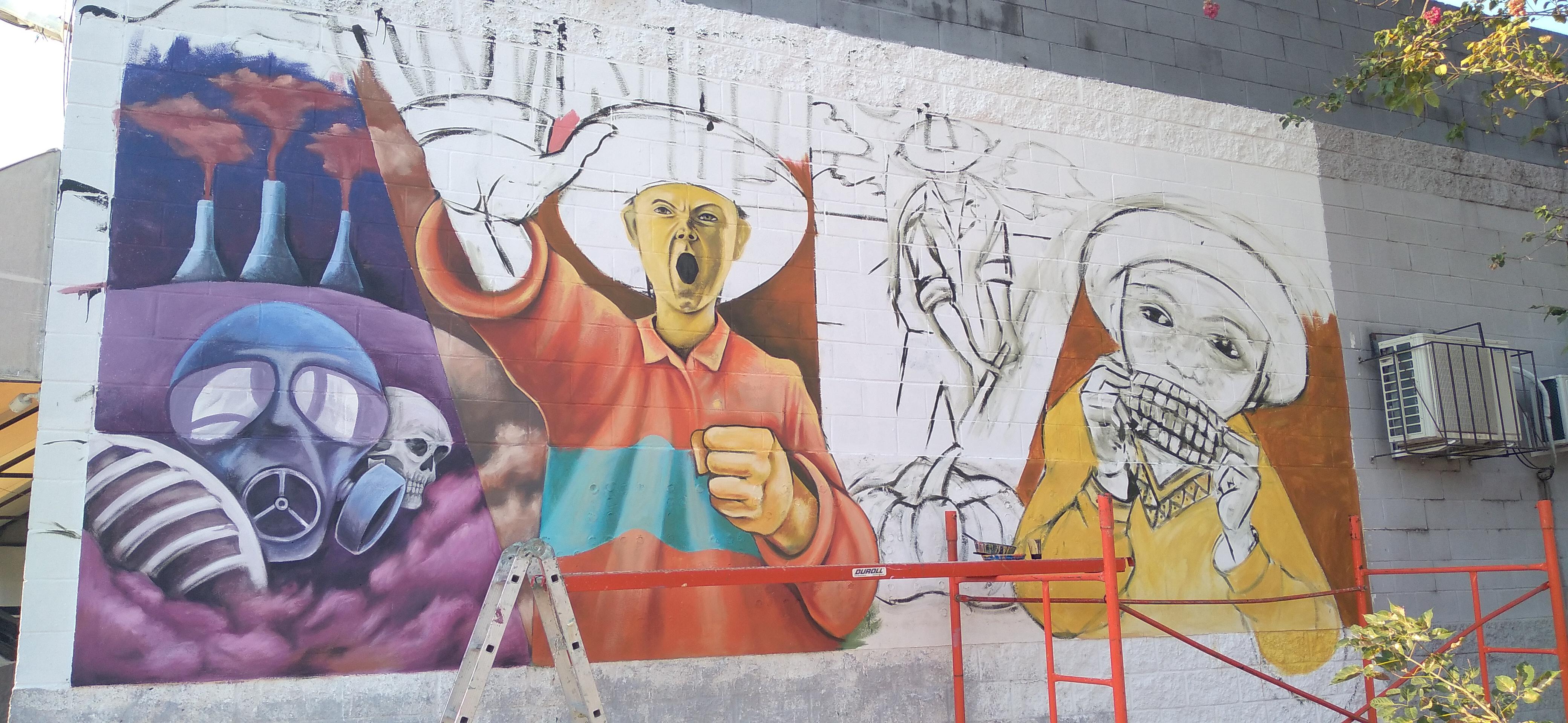 Encuentro de muralistas por la alimentación sana